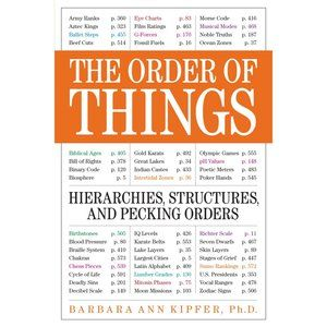3/$25 BOOK SALE! The Order Of Things